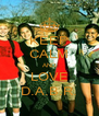 KEEP CALM AND LOVE D.A.B.R. - Personalised Poster A4 size