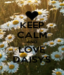KEEP CALM AND LOVE DAISYS - Personalised Poster A4 size