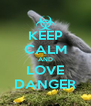 KEEP CALM AND LOVE DANGER - Personalised Poster A4 size