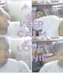 KEEP CALM AND LOVE  DANIE - Personalised Poster A4 size