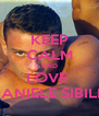 KEEP CALM AND LOVE  DANIELE SIBILLI - Personalised Poster A4 size