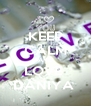KEEP CALM AND LOVE  DANIYA  - Personalised Poster A4 size