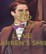 KEEP CALM AND LOVE  DARREN'S SMILE - Personalised Poster A4 size