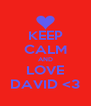 KEEP CALM AND LOVE DAVID <3 - Personalised Poster A4 size