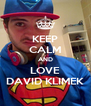 KEEP CALM AND LOVE DAVID KLIMEK - Personalised Poster A4 size