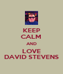 KEEP CALM AND LOVE DAVID STEVENS - Personalised Poster A4 size