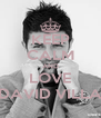 KEEP CALM AND LOVE DAVID VILLA - Personalised Poster A4 size