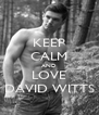 KEEP CALM AND LOVE DAVID WITTS - Personalised Poster A4 size