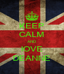 KEEP CALM AND lOVE DEANNE - Personalised Poster A4 size