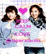 KEEP CALM AND LOVE @dearxiaolu - Personalised Poster A4 size