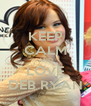 KEEP CALM AND LOVE DEB RYAN - Personalised Poster A4 size