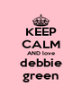 KEEP CALM AND love debbie green - Personalised Poster A4 size