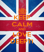 KEEP CALM AND LOVE DEEPTI - Personalised Poster A4 size