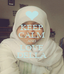 KEEP CALM AND LOVE DELLA - Personalised Poster A4 size