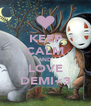 KEEP CALM AND LOVE DEMI<3 - Personalised Poster A4 size
