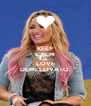 KEEP CALM AND LOVE DEMI LOVATO. - Personalised Poster A4 size