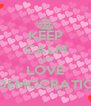 KEEP CALM AND LOVE DEMOCRATIC - Personalised Poster A4 size