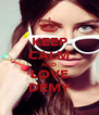 KEEP CALM AND LOVE DEMY - Personalised Poster A4 size