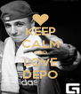 KEEP CALM AND LOVE DEPO - Personalised Poster A4 size