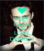 KEEP CALM AND LOVE DERREN - Personalised Poster A4 size