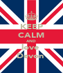 KEEP CALM AND love  Devon  - Personalised Poster A4 size