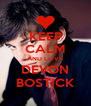 KEEP CALM AND LOVE DEVON BOSTICK - Personalised Poster A4 size