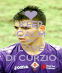 KEEP CALM AND LOVE DI CURZIO - Personalised Poster A4 size