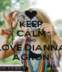 KEEP CALM AND LOVE DIANNA AGRON - Personalised Poster A4 size
