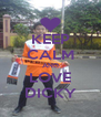 KEEP CALM AND LOVE DICKY - Personalised Poster A4 size
