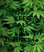 KEEP CALM AND Love DiesNKfine - Personalised Poster A4 size