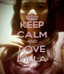 KEEP CALM AND LOVE DILLA - Personalised Poster A4 size