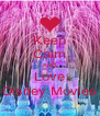 Keep Calm AND Love Disney Movies - Personalised Poster A4 size
