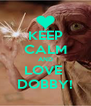 KEEP CALM AND LOVE  DOBBY! - Personalised Poster A4 size