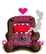 KEEP CALM AND LOVE  DOMO KUN - Personalised Poster A4 size