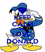 KEEP CALM AND LOVE  DONALD - Personalised Poster A4 size