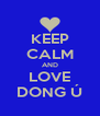 KEEP CALM AND LOVE DONG Ú - Personalised Poster A4 size