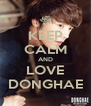 KEEP CALM AND LOVE DONGHAE - Personalised Poster A4 size