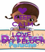 KEEP CALM AND LOVE  DOTT PELUCHE - Personalised Poster A4 size