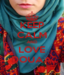 KEEP CALM AND LOVE DOUAA - Personalised Poster A4 size