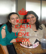 KEEP CALM AND LOVE  DOX - Personalised Poster A4 size