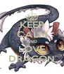 KEEP CALM AND LOVE DRAGON - Personalised Poster A4 size