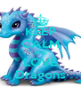 KEEP CALM AND LOVE Dragons - Personalised Poster A4 size