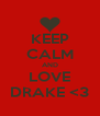 KEEP CALM AND LOVE DRAKE <3 - Personalised Poster A4 size