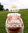 KEEP CALM AND LOVE DUCKS - Personalised Poster A4 size