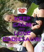 KEEP CALM AND LOVE EDDIESAUR! - Personalised Poster A4 size