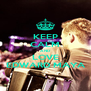 KEEP CALM AND LOVE EDWARD MAYA - Personalised Poster A4 size