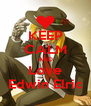 KEEP CALM AND Love Edwin Elric - Personalised Poster A4 size