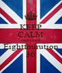 KEEP CALM AND LOVE Eightfourution 30 - Personalised Poster A4 size