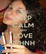 KEEP CALM AND LOVE EIPHNH  - Personalised Poster A4 size