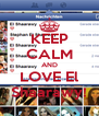 KEEP CALM AND LOVE El Shaarawy! - Personalised Poster A4 size